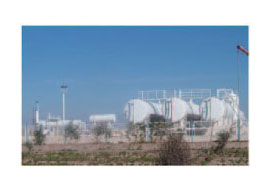 乌兹别克斯坦天然气处理站